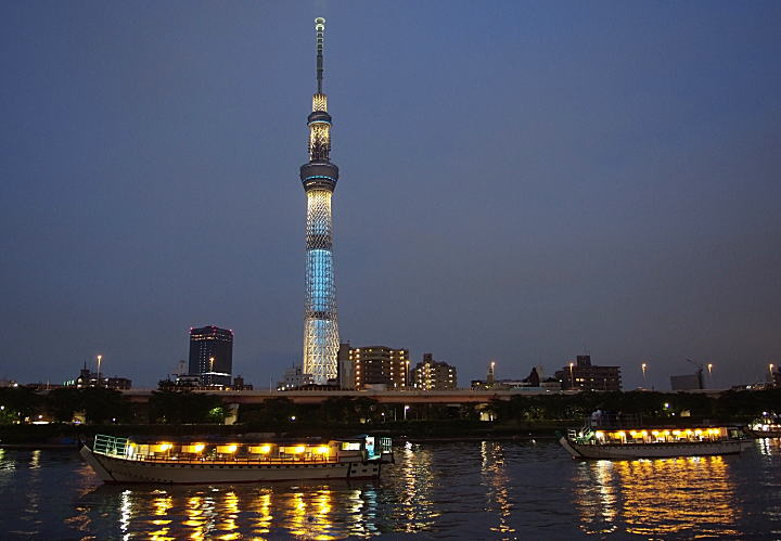 Skytree at night